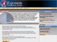 Equinox Information Systems web site homepage design