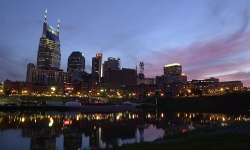Nashville, Tennessee at sunset